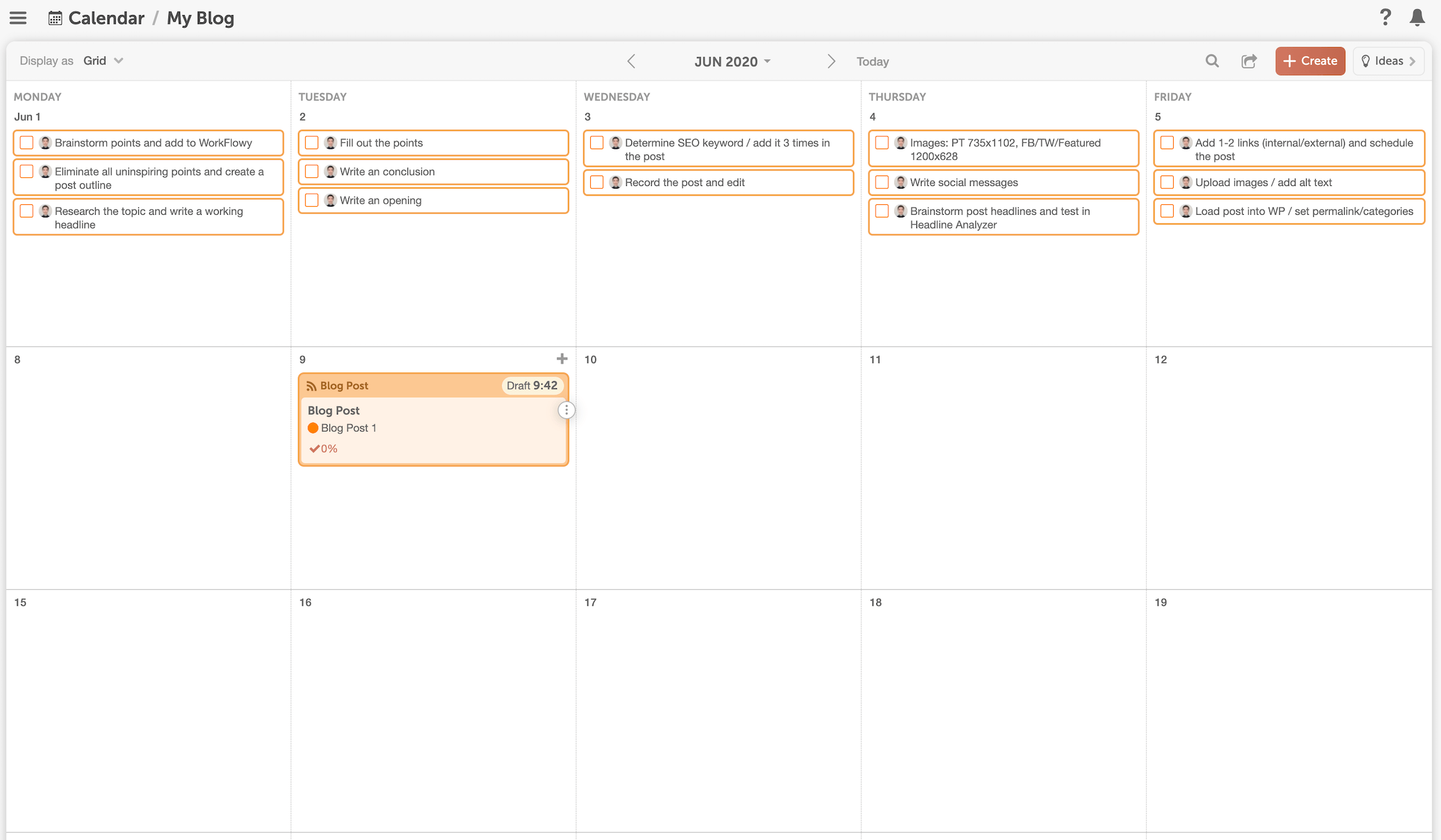 CoSchedule Marketing Calendar Plan Blog Post - MindfulSpot.com
